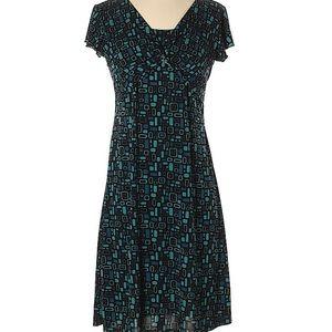 Perseption Geometric teal dress